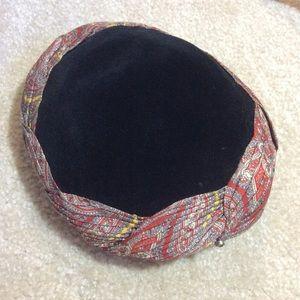 Vintage Accessories - Vintage Fortune Teller's Hat Velvet Caplet